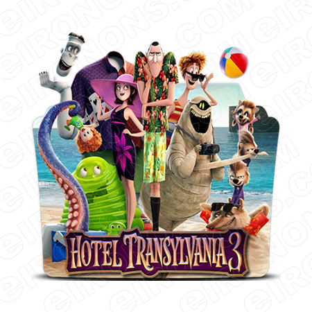 HOTEL TRANSYLVANIA 3 GROUP POSE MOVIE T-SHIRT IRON-ON TRANSFER DECAL MHT17