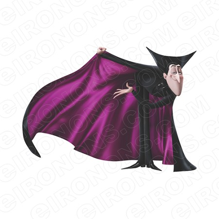 HOTEL TRANSYLVANIA DRACULA CAPE OUT MOVIE T-SHIRT IRON-ON TRANSFER DECAL #MHT12