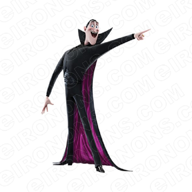 HOTEL TRANSYLVANIA DRACULA POINTING MOVIE T-SHIRT IRON-ON TRANSFER DECAL #MHT8