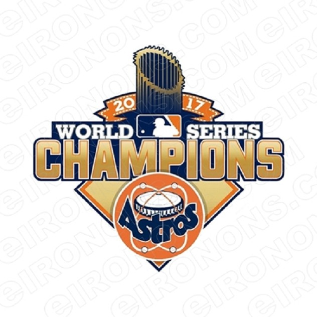 HOUSTON ASTROS 2017 WORLD SERIES CHAMPIONS LOGO SPORTS MLB BASEBALL T-SHIRT IRON-ON TRANSFER DECAL #HA9
