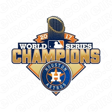 HOUSTON ASTROS 2017 WORLD SERIES CHAMPIONS LOGO SPORTS MLB BASEBALL T-SHIRT IRON-ON TRANSFER DECAL #HA14