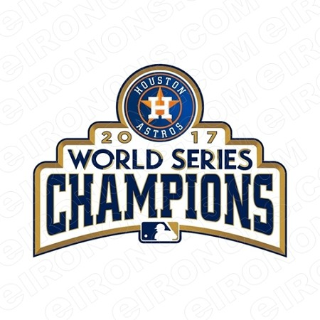 HOUSTON ASTROS 2017 WORLD SERIES CHAMPIONS LOGO SPORTS MLB BASEBALL T-SHIRT IRON-ON TRANSFER DECAL #HA8