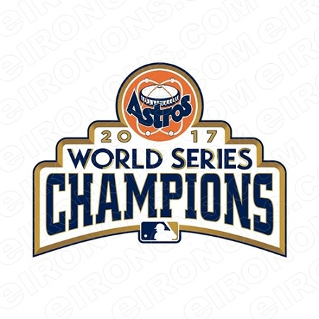 HOUSTON ASTROS 2017 WORLD SERIES CHAMPIONS LOGO SPORTS MLB BASEBALL T-SHIRT IRON-ON TRANSFER DECAL #HA11
