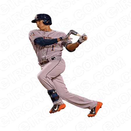 HOUSTON ASTROS CARLOS CORREA BATTING SPORTS MLB BASEBALL T-SHIRT IRON-ON TRANSFER DECAL #HA20