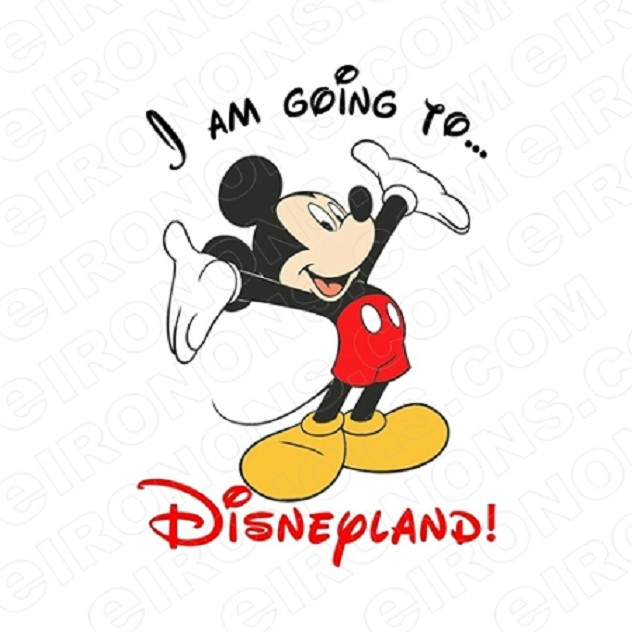 I AM GOING TO DISNEYLAND DISNEY VACATION T-SHIRT IRON-ON TRANSFER DECAL #DV7