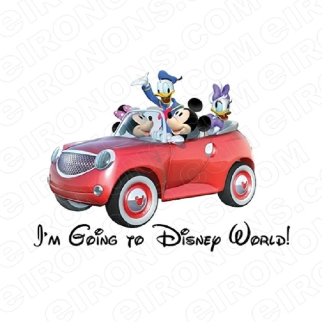 I'M GOING TO DISNEY WORLD DISNEY VACATION T-SHIRT IRON-ON TRANSFER DECAL #DV3