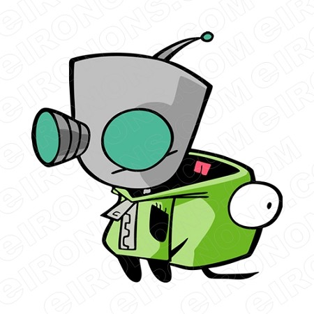 INVADER ZIM GIR DOG SUIT CHARACTER T-SHIRT IRON-ON TRANSFER DECAL #CIZ7