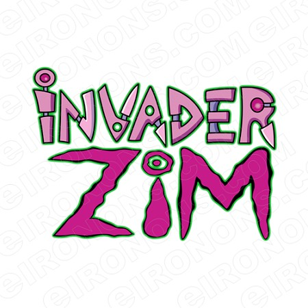 INVADER ZIM LOGO CHARACTER T-SHIRT IRON-ON TRANSFER DECAL #CIZ2