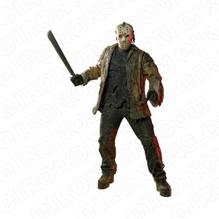 JASON VOORHEES FRIDAY THE 13TH MOVIE T-SHIRT IRON-ON TRANSFER DECAL #JVH1