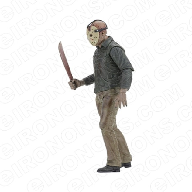 JASON VOORHEES SIDE VIEW FRIDAY THE 13TH MOVIE T-SHIRT IRON-ON TRANSFER DECAL #JVH4