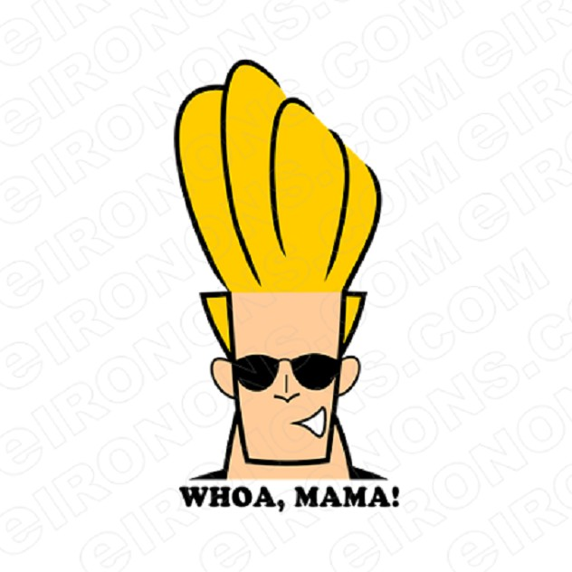 JOHNNY BRAVO WHOA, MAMA! CHARACTER T-SHIRT IRON-ON TRANSFER DECAL #CJB8