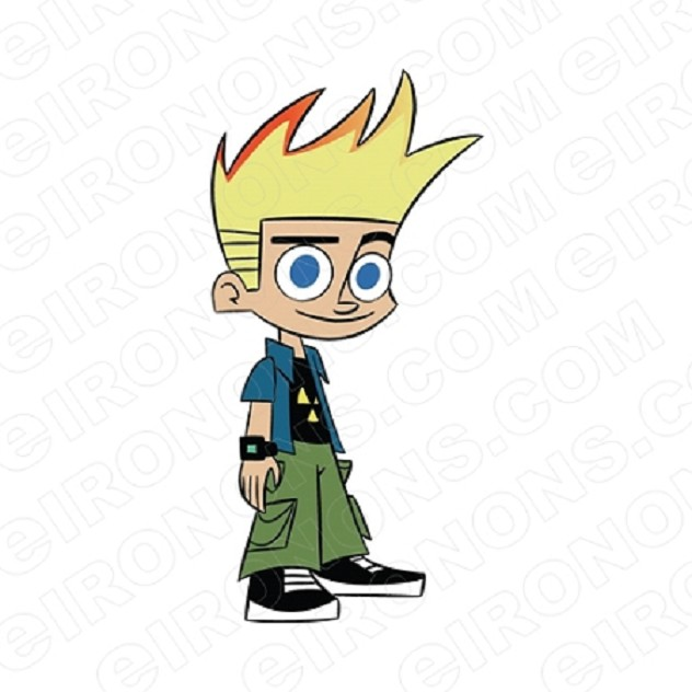 JOHNNY TEST CHARACTER T-SHIRT IRON-ON TRANSFER DECAL #CJT3