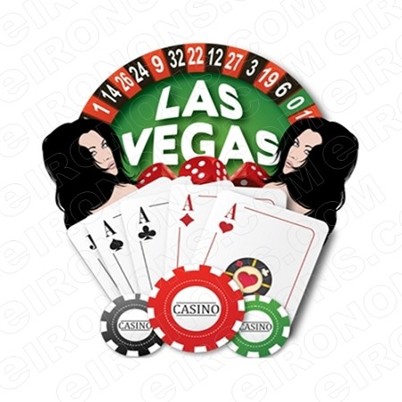 LAS VEGAS CASINO T-SHIRT IRON-ON TRANSFER DECAL #LVS10