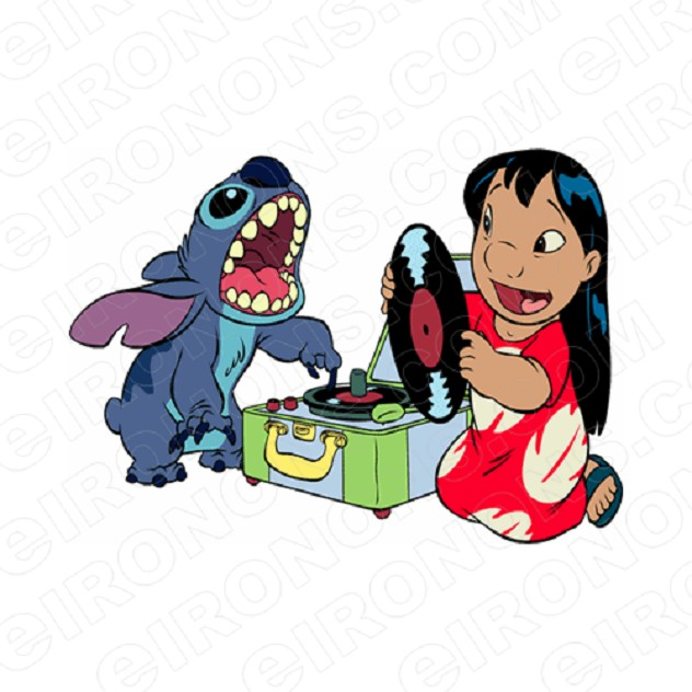 LILO & STITCH CHARACTER T-SHIRT IRON-ON TRANSFER DECAL #CLAS12