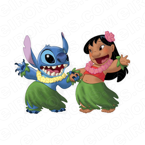 LILO & STITCH CHARACTER T-SHIRT IRON-ON TRANSFER DECAL #CLAS2