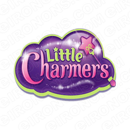 LITTLE CHARMERS LOGO CHARACTER T-SHIRT IRON-ON TRANSFER DECAL #CLC5