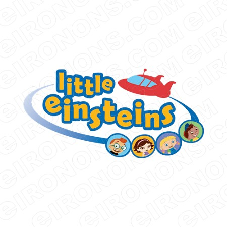 LITTLE EINSTEINS GROUP POSE ON LOGO CHARACTER T-SHIRT IRON-ON TRANSFER DECAL #CLE5