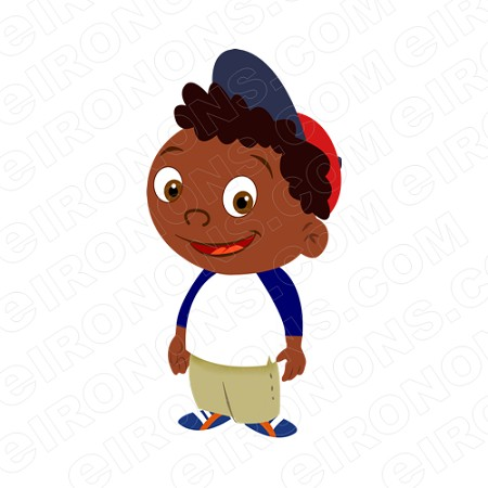LITTLE EINSTEINS QUINCY STANDING CHARACTER T-SHIRT IRON-ON TRANSFER DECAL #CLE12