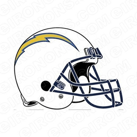 LOS ANGELES CHARGERS HELMET LOGO SPORTS NFL FOOTBALL T-SHIRT IRON-ON TRANSFER DECAL #SFLAC1