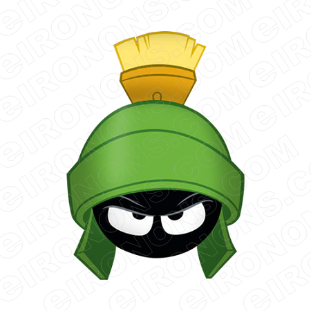 MARVIN THE MARTIAN BIG HEAD CHARACTER T-SHIRT IRON-ON TRANSFER DECAL #CMTM1