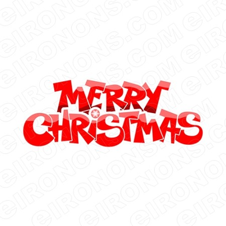 MERRY CHRISTMAS HOLIDAY T-SHIRT IRON-ON TRANSFER DECAL #HC15