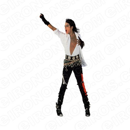 MICHAEL JACKSON ARM OUT MUSIC T-SHIRT IRON-ON TRANSFER DECAL #MMJ1