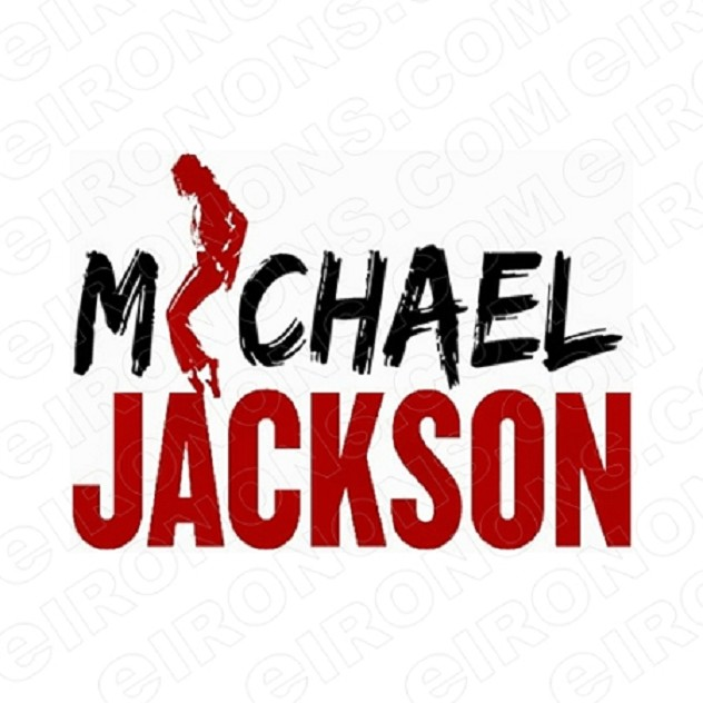 MICHAEL JACKSON LOGO MUSIC T-SHIRT IRON-ON TRANSFER DECAL #MMJ6