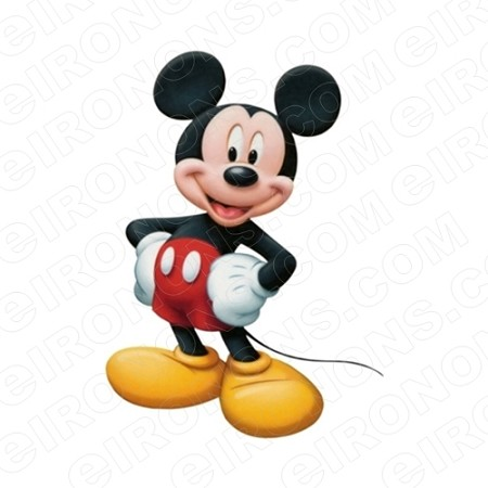 MICKEY MOUSE CHARACTER T-SHIRT IRON-ON TRANSFER DECAL #CMM8