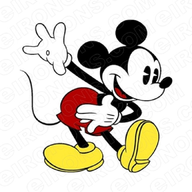MICKEY MOUSE HAND OUT CHARACTER T-SHIRT IRON-ON TRANSFER DECAL #CMM7