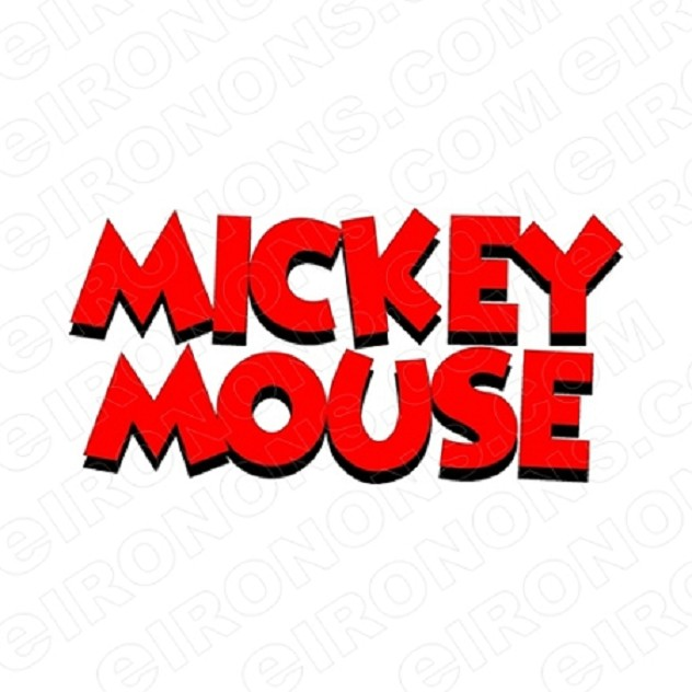 MICKEY MOUSE LOGO CHARACTER T-SHIRT IRON-ON TRANSFER DECAL #CMM2