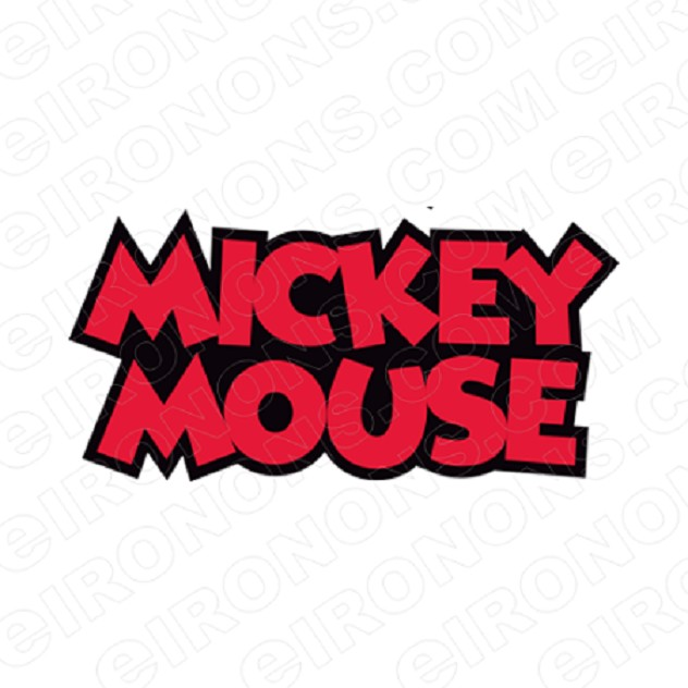 MICKEY MOUSE LOGO CHARACTER T-SHIRT IRON-ON TRANSFER DECAL #CMM3