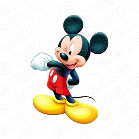 MICKEY MOUSE WINK CHARACTER T-SHIRT IRON-ON TRANSFER DECAL #CMM10