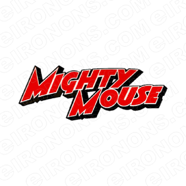 MIGHTY MOUSE LOGO CHARACTER T-SHIRT IRON-ON TRANSFER DECAL #CMIM4