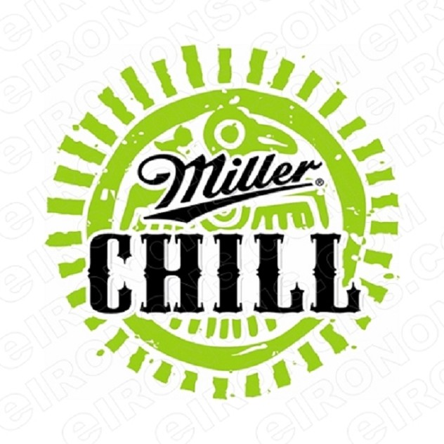 MILLER CHILL LOGO ALCOHOL T-SHIRT IRON-ON TRANSFER DECAL #AMC1