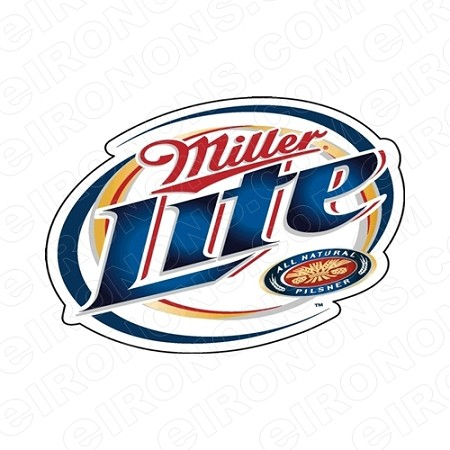 MILLER LITE LOGO ALCOHOL T-SHIRT IRON-ON TRANSFER DECAL #AML2