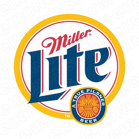 MILLER LITE LOGO ALCOHOL T-SHIRT IRON-ON TRANSFER DECAL #AML3