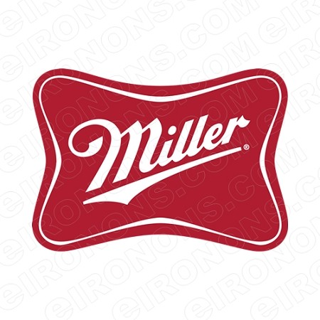 MILLER LOGO ALCOHOL T-SHIRT IRON-ON TRANSFER DECAL #AM1