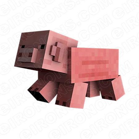 MINECRAFT PIG VIDEO GAME T-SHIRT IRON-ON TRANSFER DECAL #VMC8