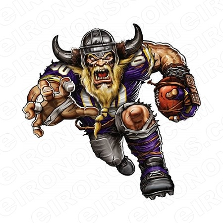 MINNESOTA VIKINGS ANGRY VIKING SPORTS NFL FOOTBALL T-SHIRT IRON-ON TRANSFER DECAL #SFMV5