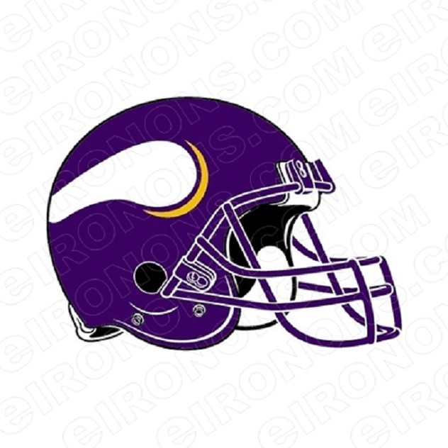 MINNESOTA VIKINGS HELMET SPORTS NFL FOOTBALL T-SHIRT IRON-ON TRANSFER DECAL #SFMV4