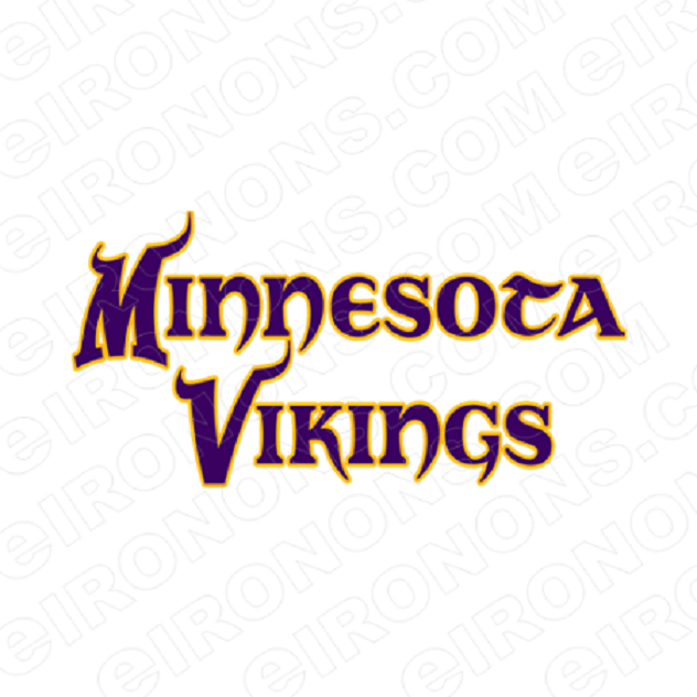 MINNESOTA VIKINGS WORD LOGO SPORTS NFL FOOTBALL T-SHIRT IRON-ON TRANSFER DECAL SFMV2