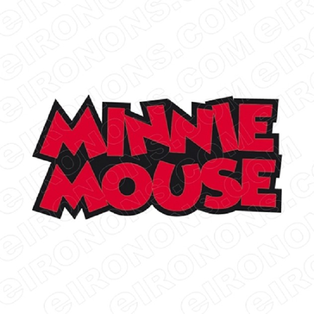 MINNIE MOUSE LOGO CHARACTER T-SHIRT IRON-ON TRANSFER DECAL #CMM1