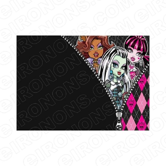 MONSTER HIGH BLANK EDITABLE INVITATION INSTANT DOWNLOAD #IMH1