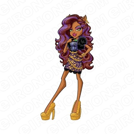 MONSTER HIGH CLAWDEEN WOLF CHARACTER T-SHIRT IRON-ON TRANSFER DECAL #CMH2