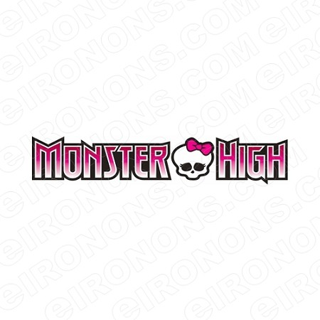 MONSTER HIGH LOGO CHARACTER T-SHIRT IRON-ON TRANSFER DECAL #CMH11