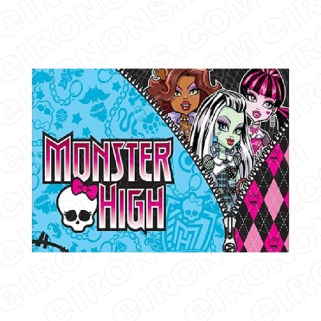 MONSTER HIGH LOGO CHARACTER T-SHIRT IRON-ON TRANSFER DECAL #CMH13