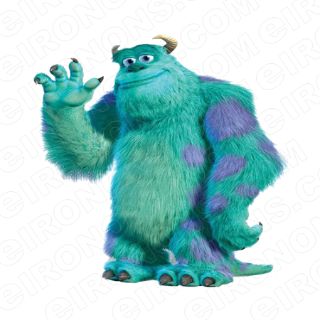 MONSTERS INC SULLEY WAVING CHARACTER T-SHIRT IRON-ON TRANSFER DECAL #CMI5