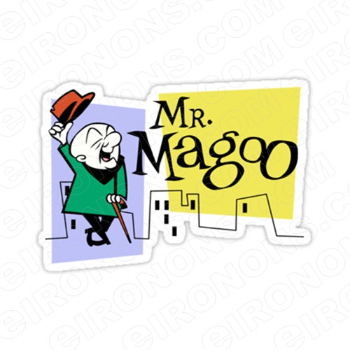 MR MAGOO AND LOGO CHARACTER T-SHIRT IRON-ON TRANSFER DECAL #CMM1