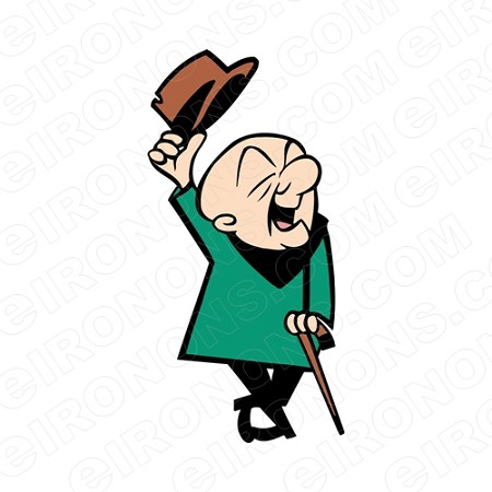 MR MAGOO HAT OFF CHARACTER T-SHIRT IRON-ON TRANSFER DECAL #CMM2