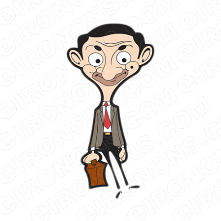 MR BEAN WAITING TV T-SHIRT IRON-ON TRANSFER DECAL #TVMB9